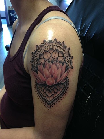 mandala and lotus tattoo