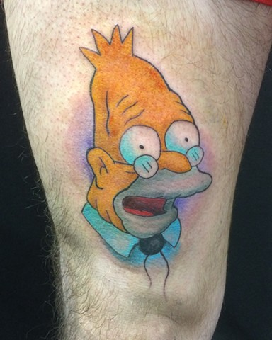 The Simpsons tattoo Strange World Tattoo Calgary