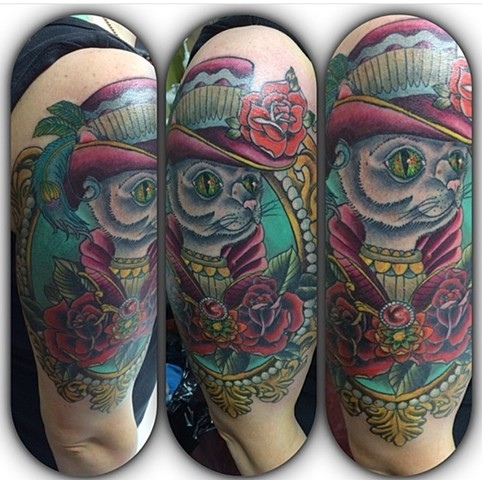 Cat in a hat tattoo Strange World Tattoo Calgary