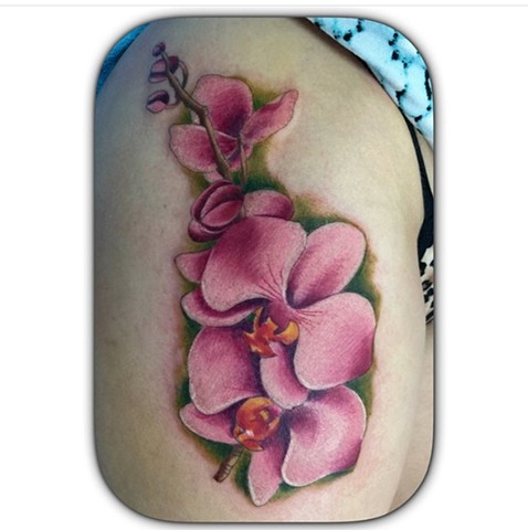 Watercolour flower tattoo Strange World Tattoo Calgary, Canada