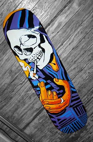 Smoking Skull Board