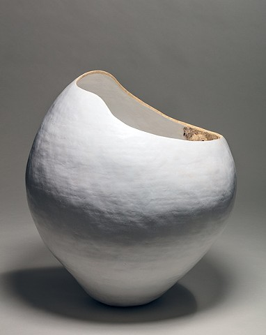 coil-built ceramic earthenware sculpture