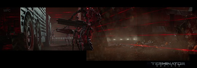 Terminator environment paint-over and DMP