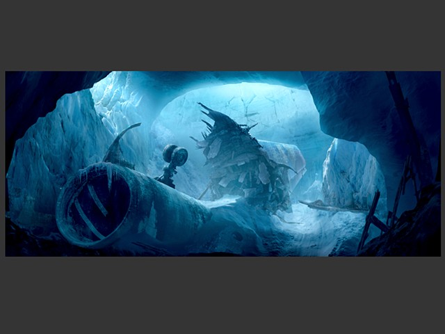 Ice Cave - Matte Painting