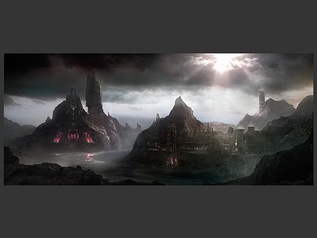 Mining facility - concept for a Matte Painting