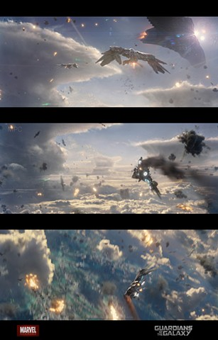 Xandar aerial battle