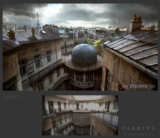 Paris establishing shot