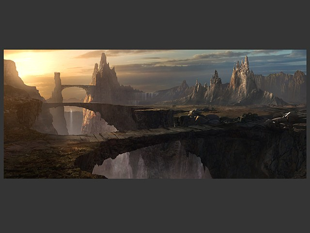 Chasm - Matte Painting