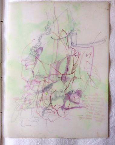 Layered drawing Italy