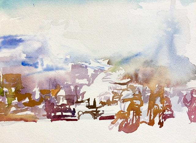 Watercolor israel