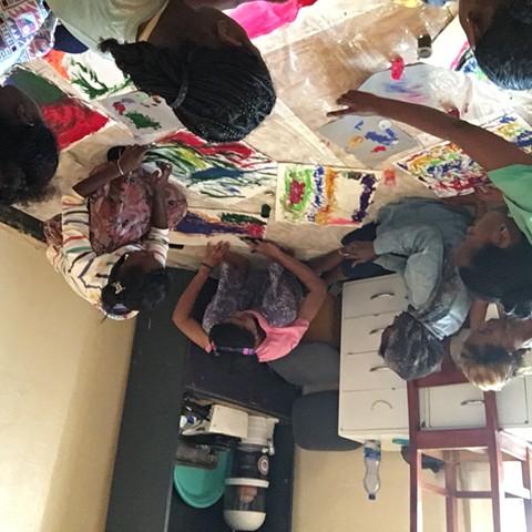 Loss Trauma Art Workshops, Sodo Ethiopia, with beautiful local women. Host, Alice Karnes.