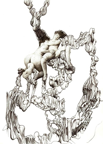 Ink, Collage , Automatic Drawing, Surrealism, Max Ernst, Andre Masson, eroticism