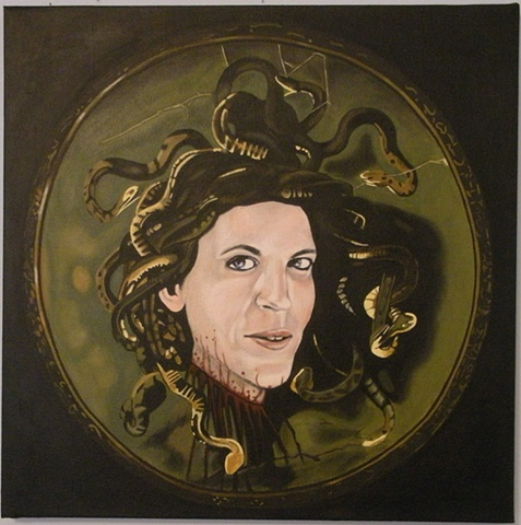 Anne Coulter as Caravaggio's Medusa