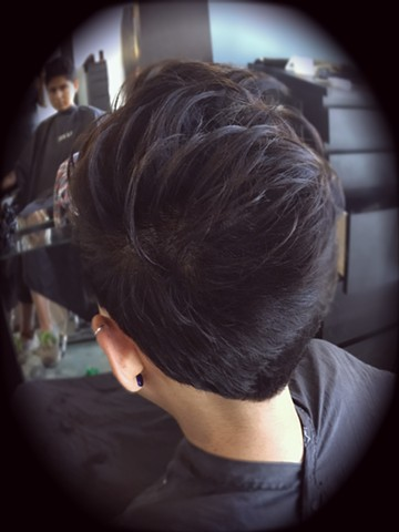 Short, textured haircut