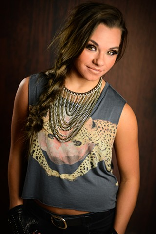 Editorial Airbrush Makeup used in Senior Photo Glam Shoot with Drake Photo