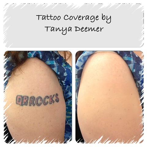 Tattoo Coverage with Waterproof Airbrush Makeup
