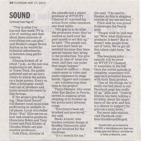 Peoria Journal Star Newspaper article pg. 2