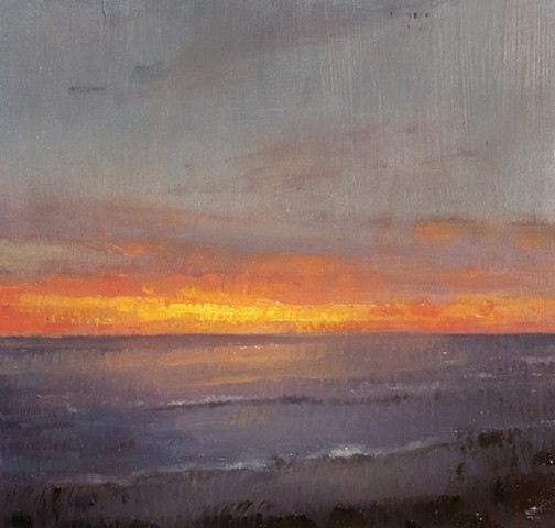 Sunrise over the sea- study