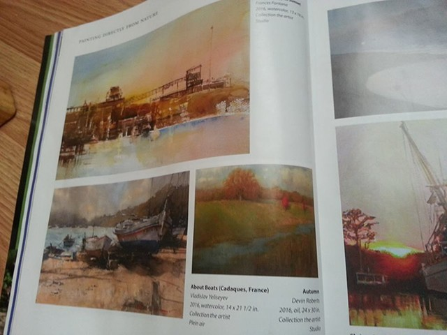 NEWS UPDATE: 10/10/2016 - Featured in Plein Air Magazine.