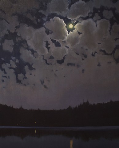Devin Michael Roberts Art Paintings Artist Nocturne Moon
