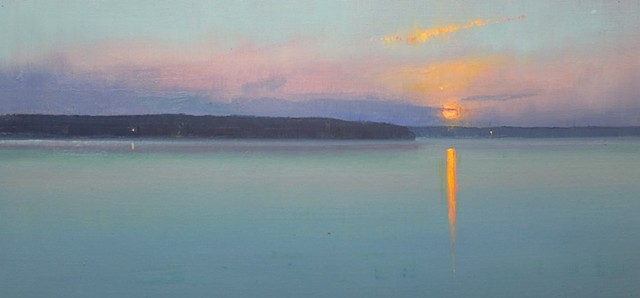 Devin Michael Roberts Sunset Oil Painting