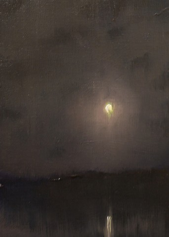 Devin Michael Roberts Paintings Art Moon Nocturne