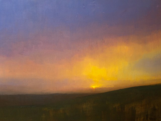 Devin Roberts Art Paintings Artist Sunset Sun