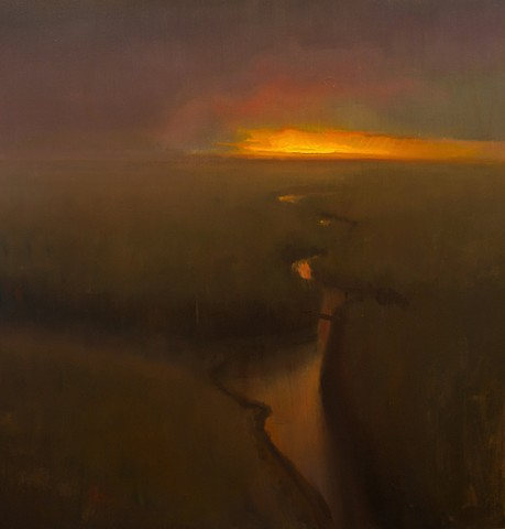 Devin Michael Roberts Art Paintings Sunset Landscape