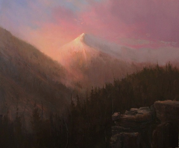 Devin Michael Roberts Artist Painter Sunset Mountains