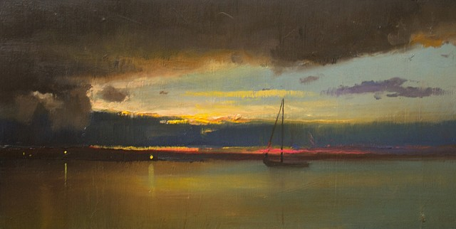 Devin Michael Roberts Art Paintings Sunset Nocturne