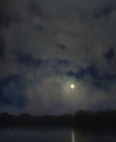 Devin Roberts Paintings Artist Nocturne Moon Plein Air Landscape