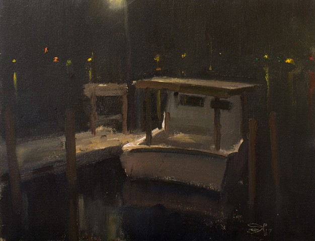 Devin Roberts Plein Air Painting Artist Night Nocturne