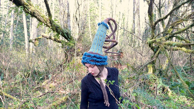 Nature Drag Forest Installation:  Seastarlet Party Hat