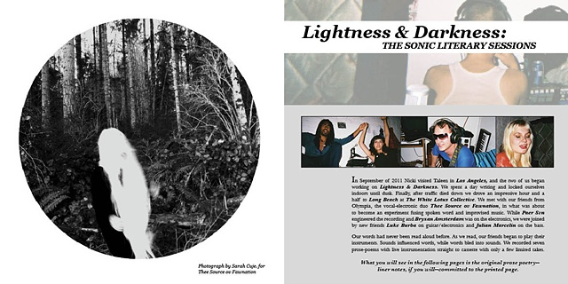 Interior Spread for Lightness & Darkness Book, Album Section