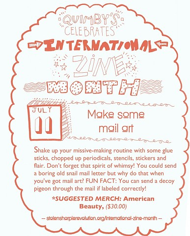 International Zine Month Blog Illustration