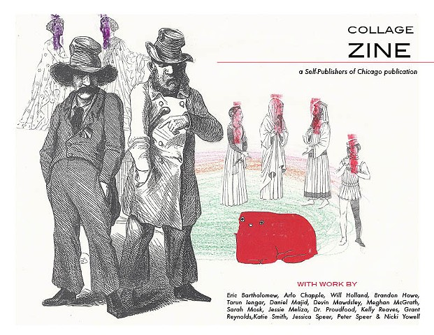 Cover page for collaborative collage zine created by Self-Publishers of Chicago (SPOC)