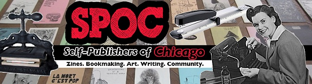 Banner for Self-Publishers of Chicago (SPOC) website, (prototype)