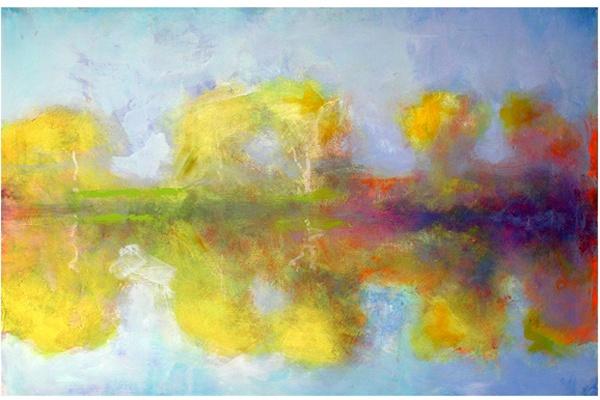 Yellow Dawn, acrylic, 40x60