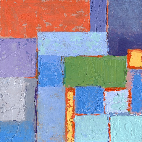 Square in Blue & Orange