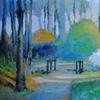 Dodwoods by the Bridge Path 24x48 acrylic