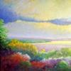 Hudson from Peekskill Heights - oil, 80x64