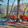 Teatown Lake, 22x36, acrylic