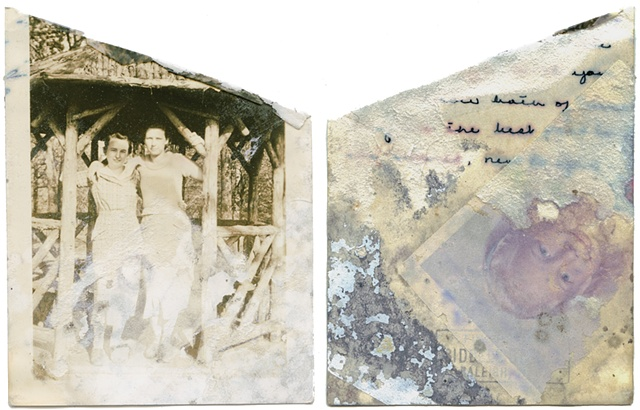 Found photograph burned for i must make my bones