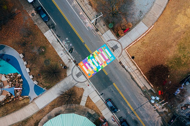 Popping!  Durham, NC  501 Foster St at Durham Central Park  2019   Commissioned by Durham Arts Council for City of Durham and funded by the NEA, NC Arts Council and additional public/ private partners.  photo: Estlin Haiss