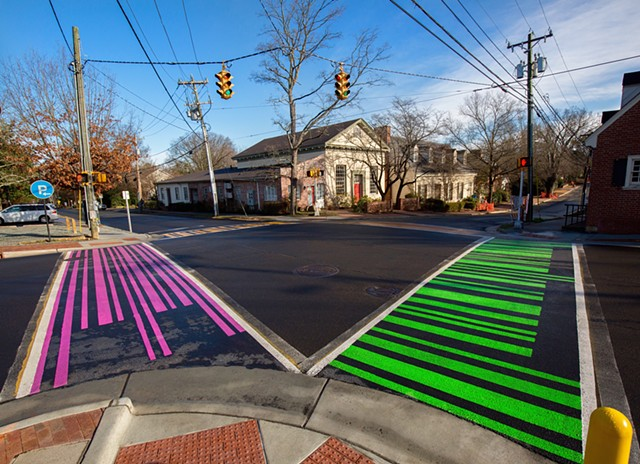 UPC PROJECT   Crosswalks in Chapel Hill, NC   Commissioned by Town of Chapel Hill and Chapel Hill Public Arts   2016