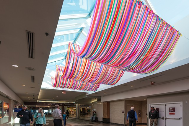 B SWAG   Nashville Int'l Airport, TN  Commissioned by Nashville Int'l Airport for Bonnaroo Music and Arts Festival  photo: Bruce Cain  2017
