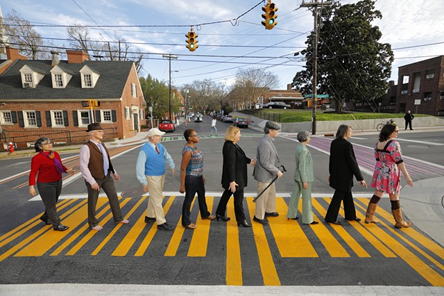 UPC PROJECT  Crosswalks in Chapel Hill, NC  Commissioned by Town of Chapel Hill and Chapel Hill Public Arts   photo: Jonathan Drake   2016