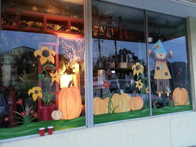 Fall windows - Flowers by LouAnn