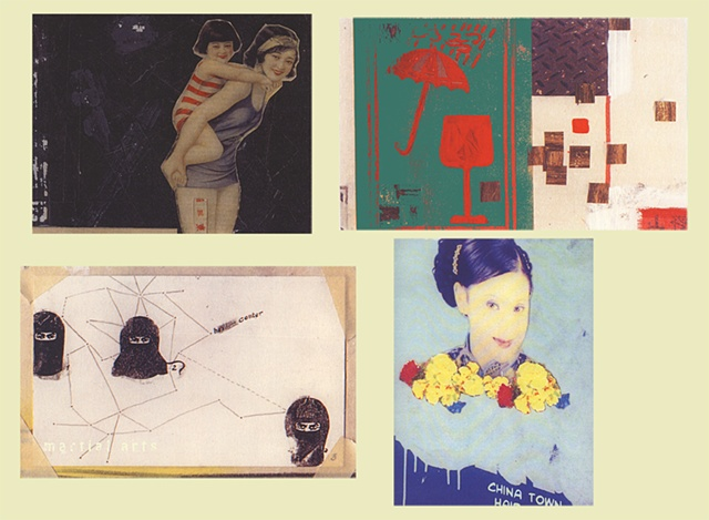 "STUDENTS' WORK    CHINATOWN:  ""POSTCARDS""  GRAPHIC DESIGN (2ND YEAR) PROF. STEVEN DANA SCHOOL OF VISUAL ARTS NY"