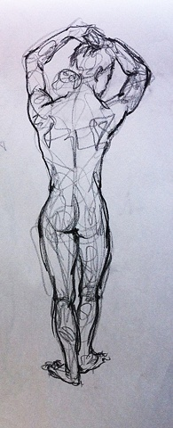 STUDENTS' WORK   The Figure, Hyo Jin Lee    FIGURE DRAWING/LOCATION DRAWING (FOUNDATION YEAR) FINE ARTS DEPARTMENT FOR INTERNATIONAL STUDENTS PROF. STEVEN DANA SCHOOL OF VISUAL ARTS NY